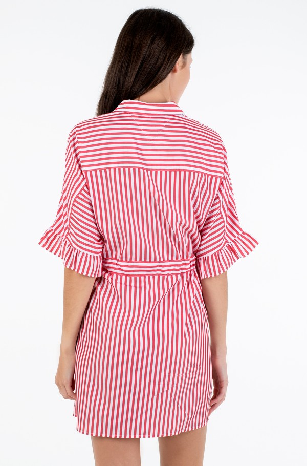 TJW FRILL SLEEVE SHIRT DRESS-hover