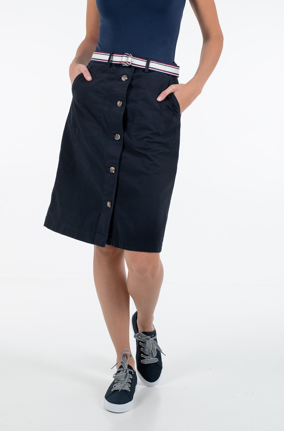 Skirt TH COOL POPLIN GMD SKIRT-full-1