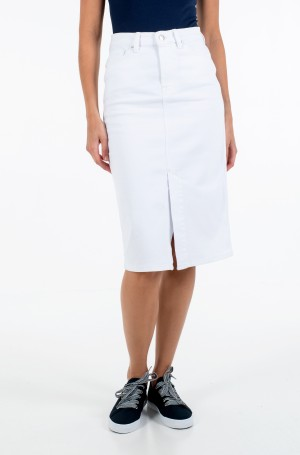 Džinsinis sijonas PENCIL SKIRT HW WHITE-1