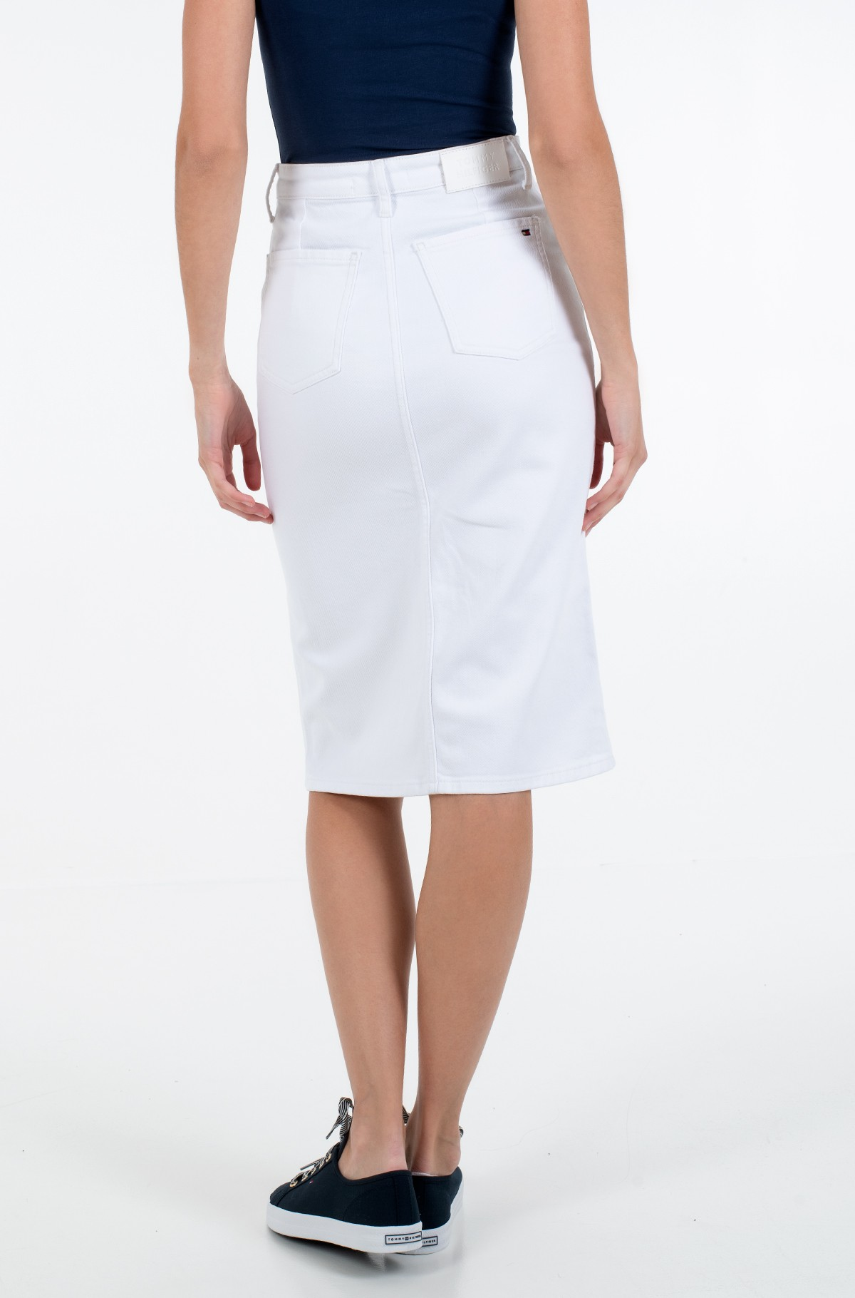Džinsinis sijonas PENCIL SKIRT HW WHITE-full-2