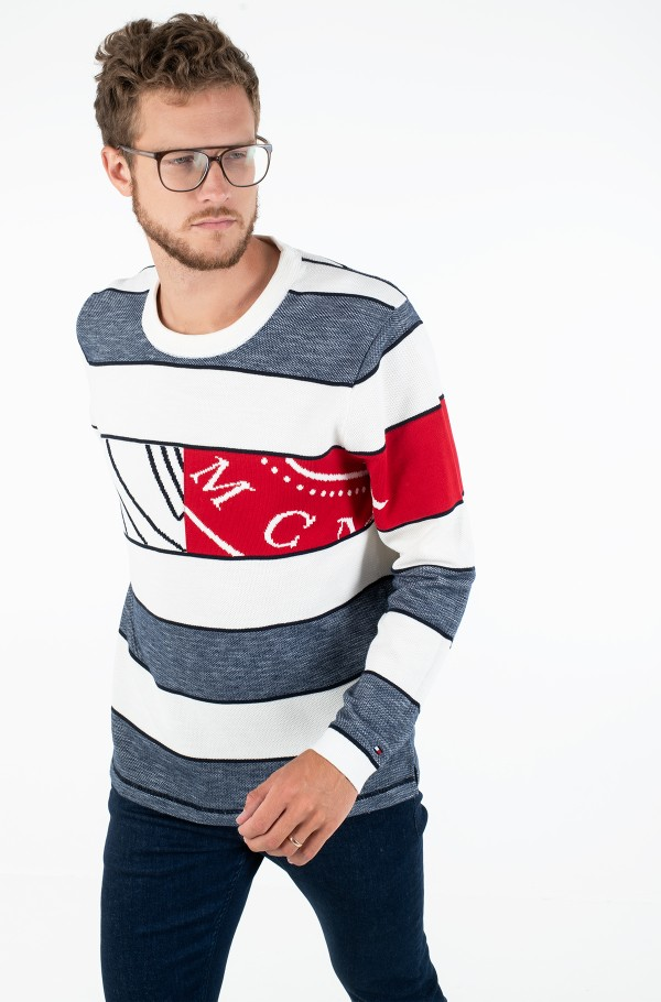 FLAG ARTWORK STRIPE SWEATER