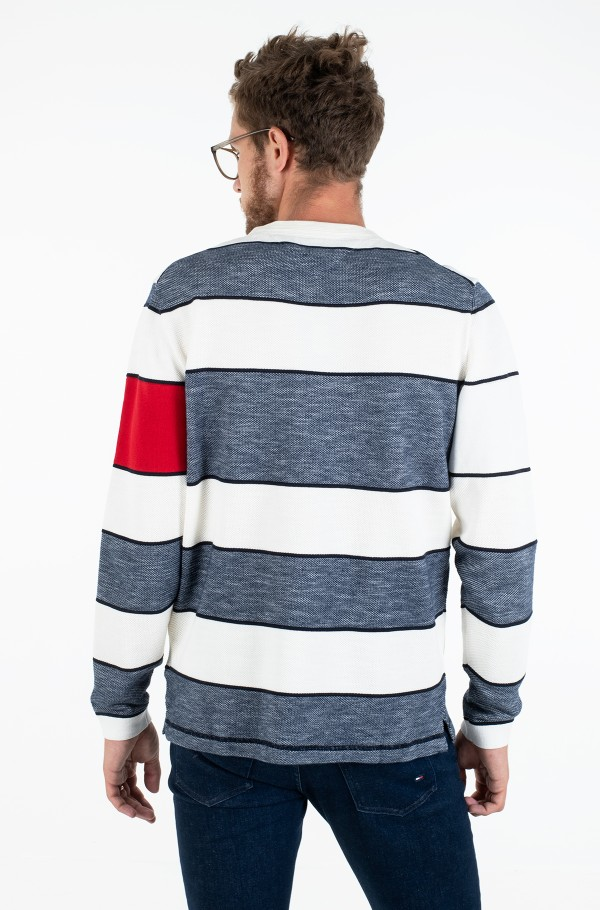 FLAG ARTWORK STRIPE SWEATER-hover