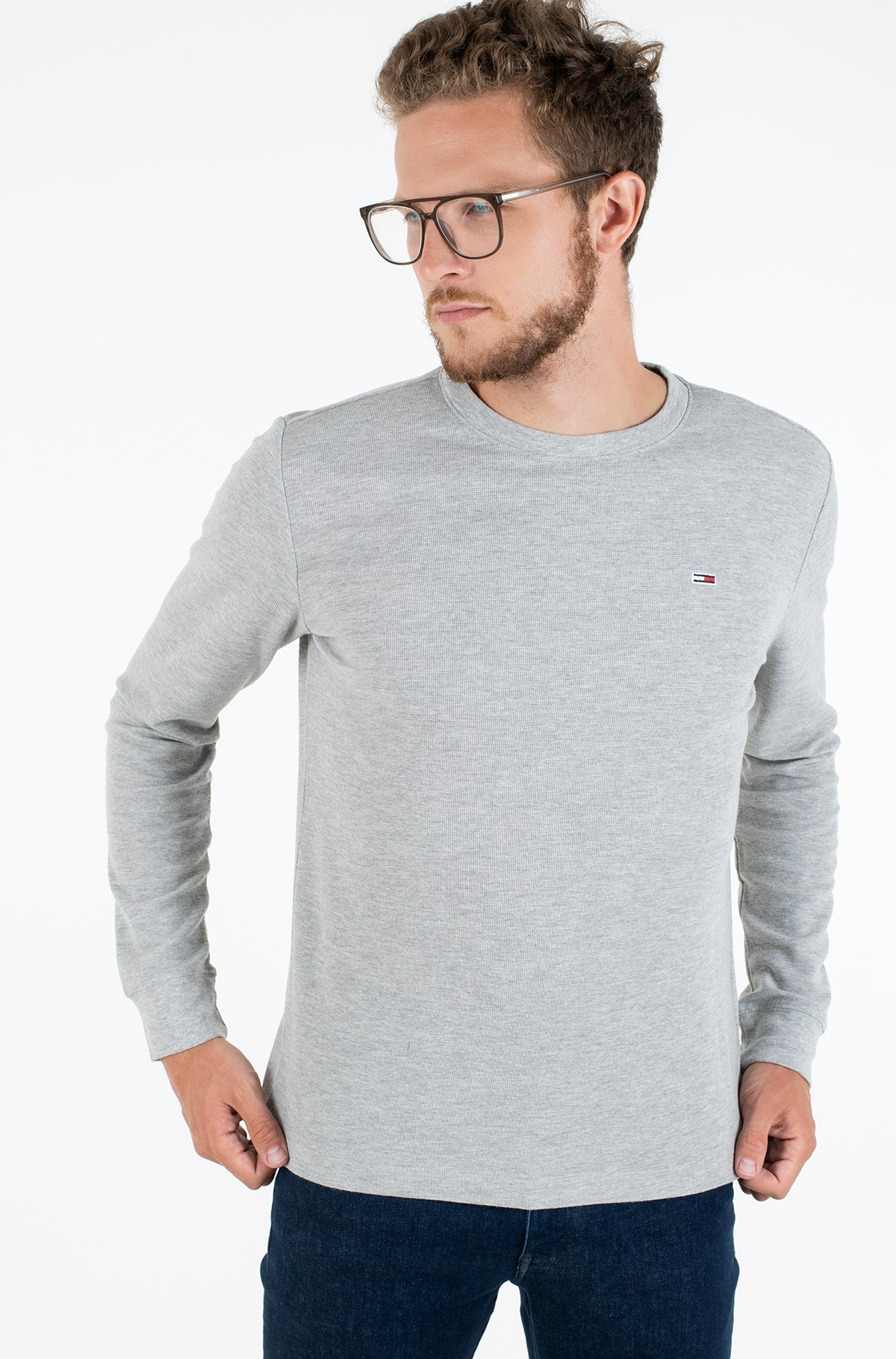 Long sleeved t-shirt TJM MINI WAFFLE LONGSLEEVE TEE-full-1