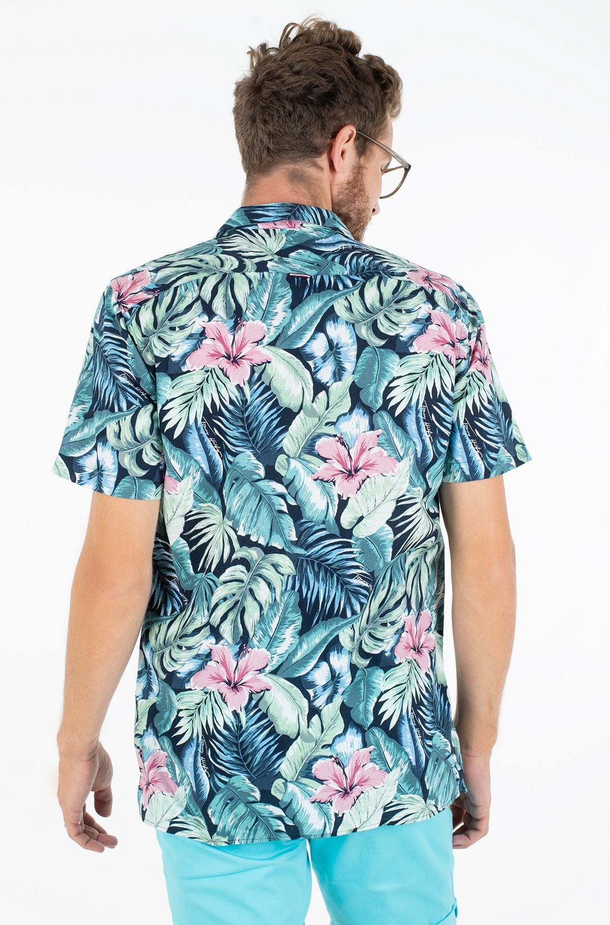 Marškiniai su trumpomis rankovėmis HAWAIIAN PRINT SHIRT S/S-full-2