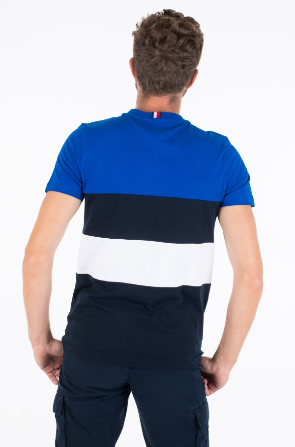 STRIPED COLOR BLOCK TEE-hover