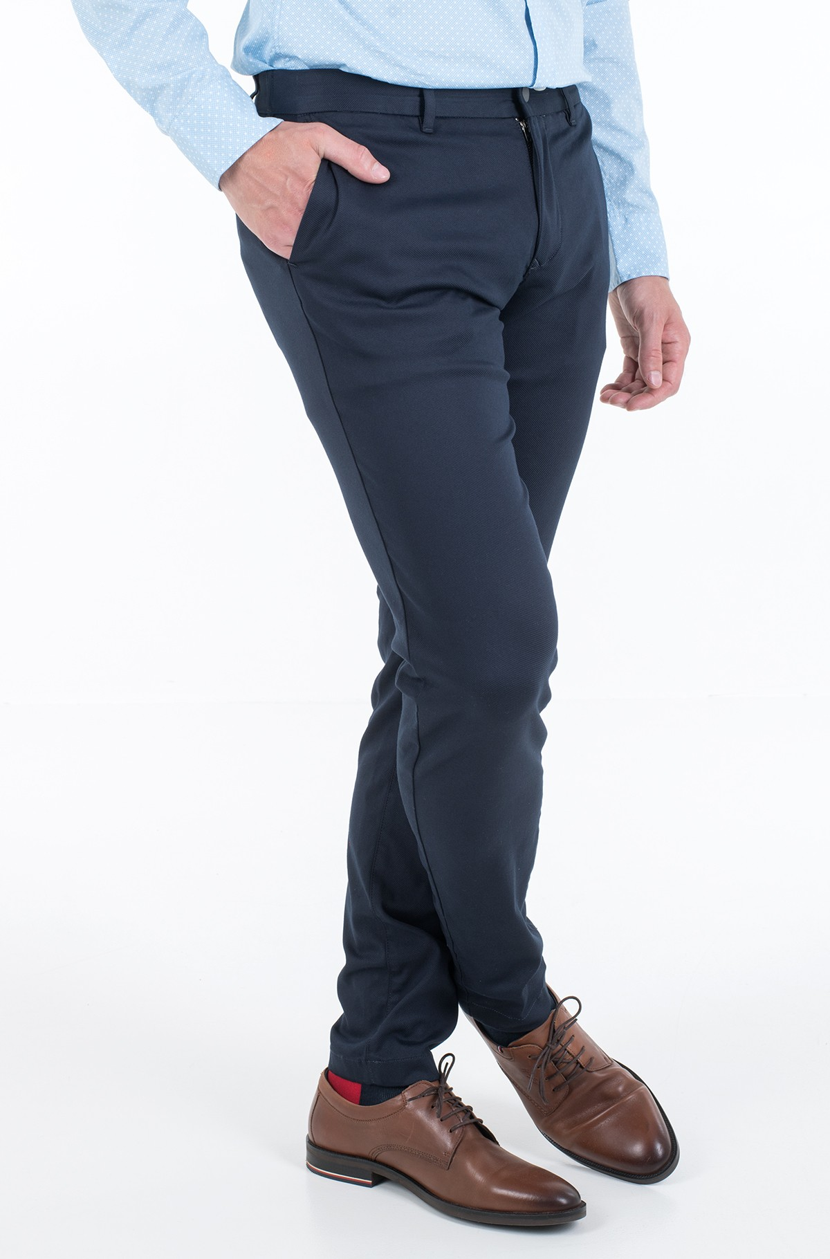 Suit trousers TAPERED TECH STRETCH TWILL FLEX-full-2