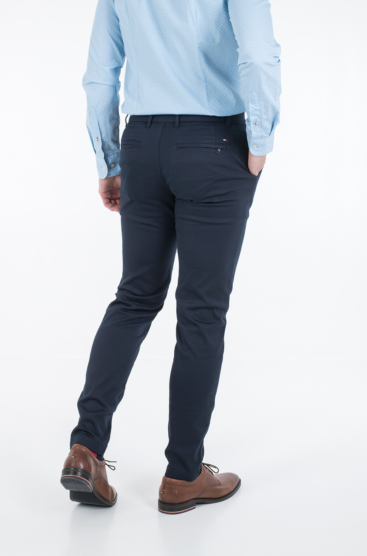 Suit trousers TAPERED TECH STRETCH TWILL FLEX-full-3