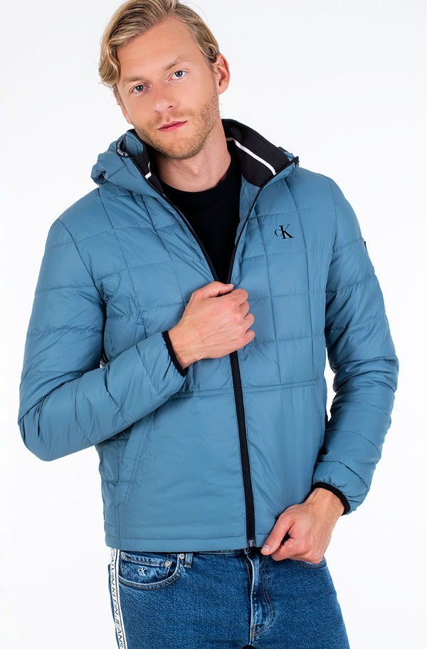 PADDED HOODED JACKET-hover