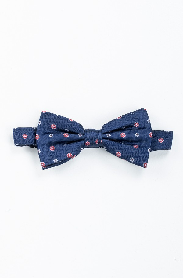 HERRINGBONE DESIGN SILK BOWTIE