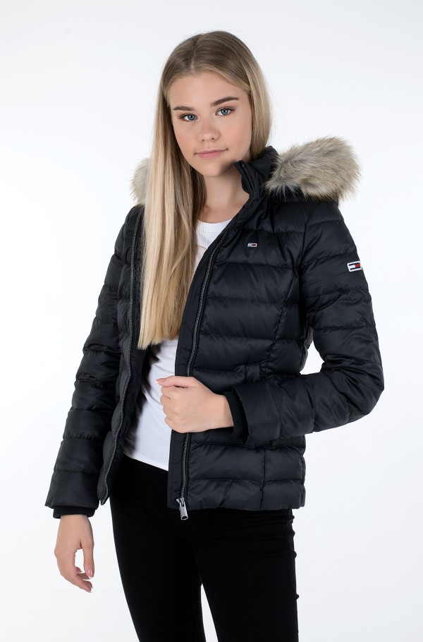 TJW BASIC HOODED DOWN JACKET-hover