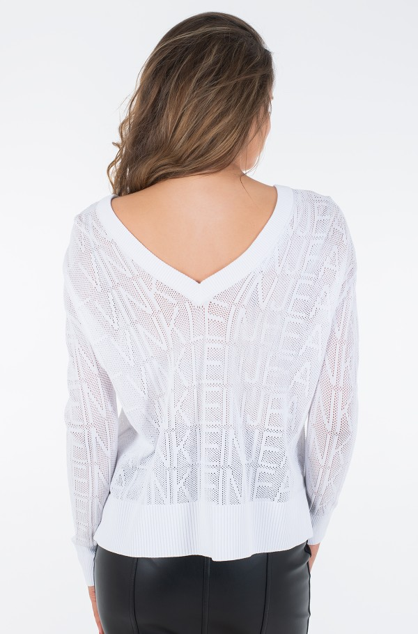 RELAXED MESH SWEATER-hover