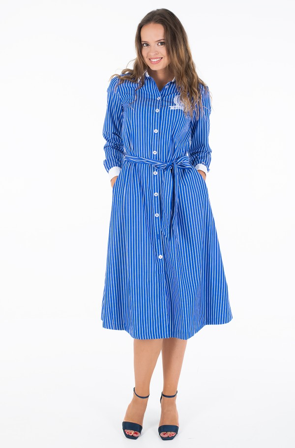 ICON TEDDY MIDI SHIRT DRESS LS