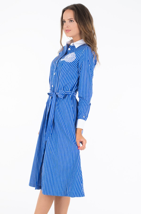 ICON TEDDY MIDI SHIRT DRESS LS-hover