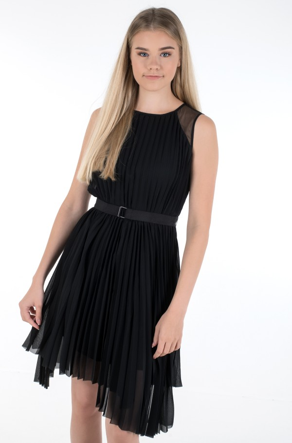 S/L PLEATED DRESS-hover