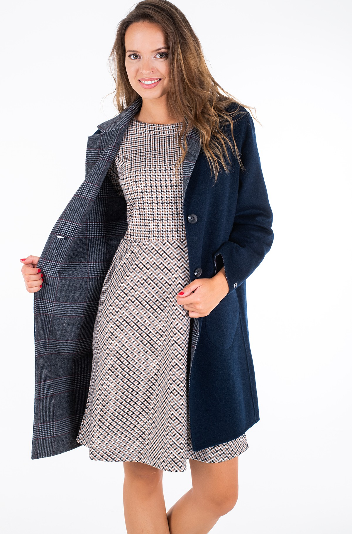 Pea coat ALISON REV DF WOOL BLEND COAT	-full-2