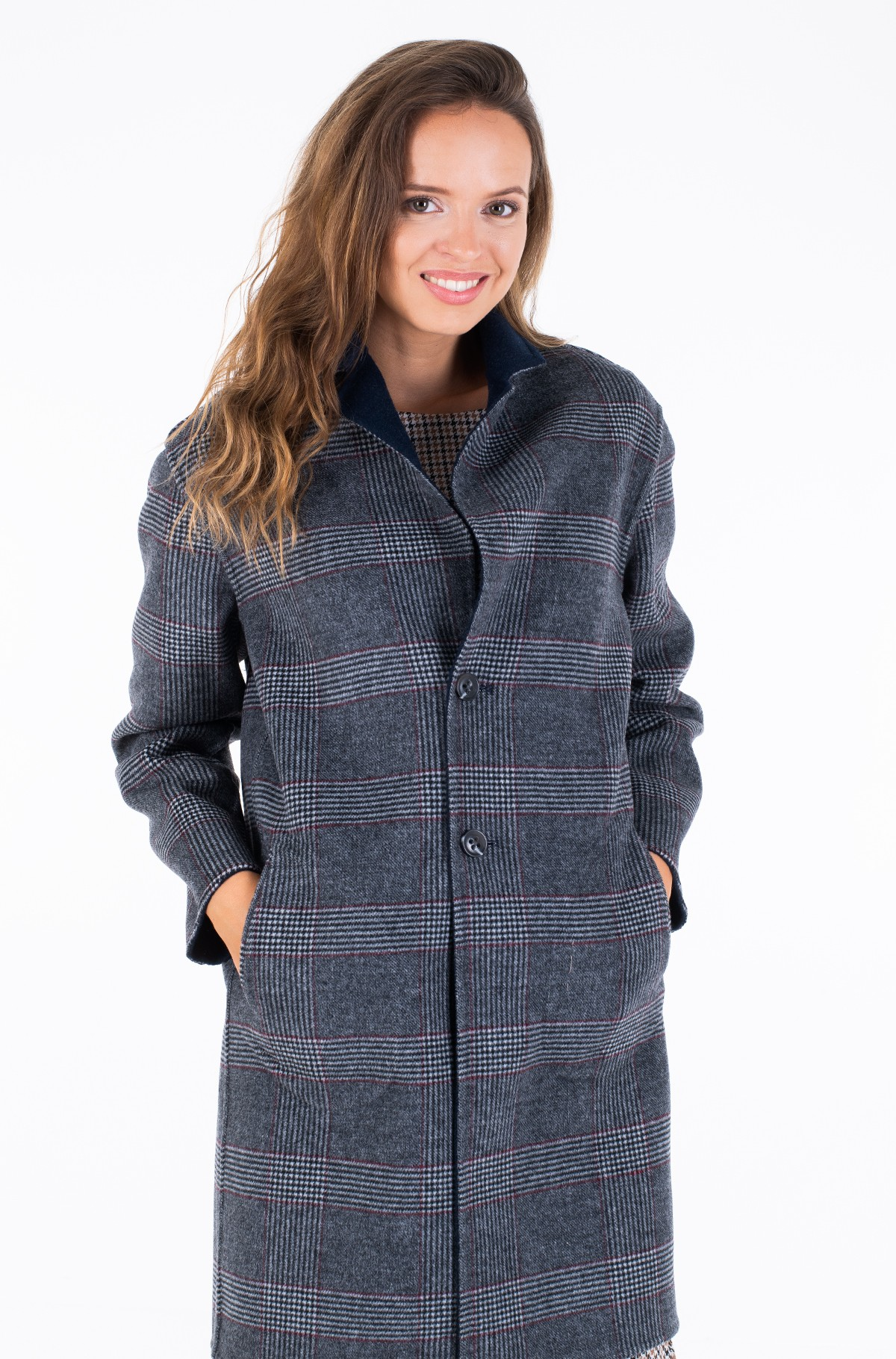 Pea coat ALISON REV DF WOOL BLEND COAT	-full-3