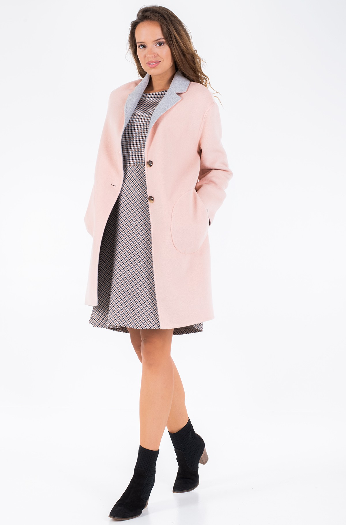 Poolmantel ALISON REV DF WOOL BLEND COAT	-full-1