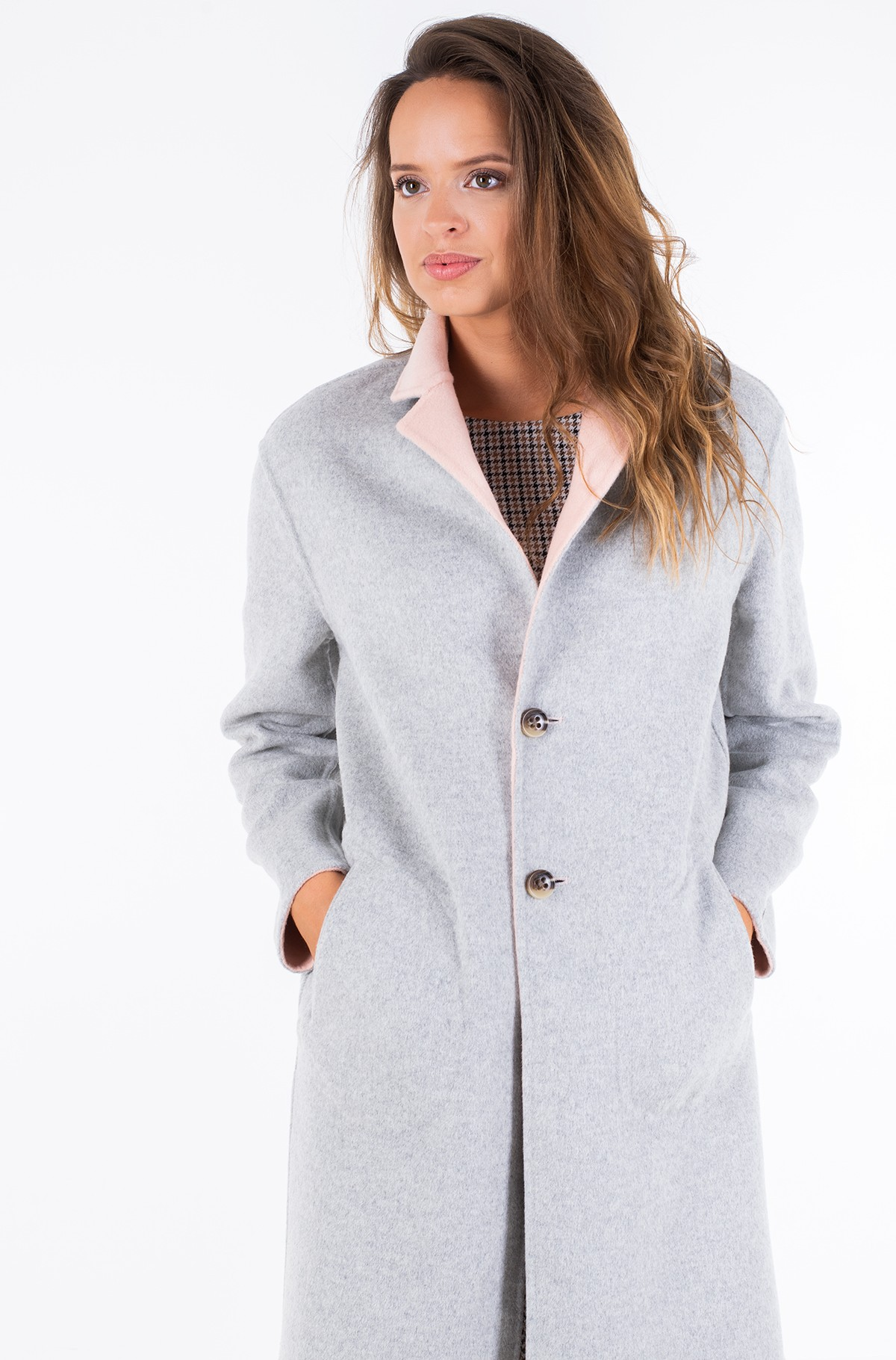 Poolmantel ALISON REV DF WOOL BLEND COAT	-full-3