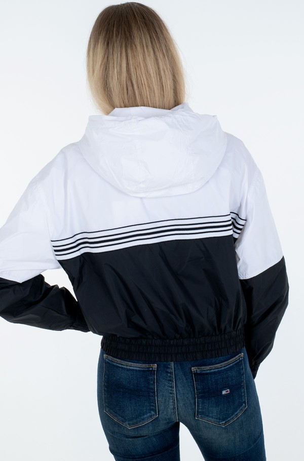 STRIPE TAPE HOODED WINDBREAKER-hover
