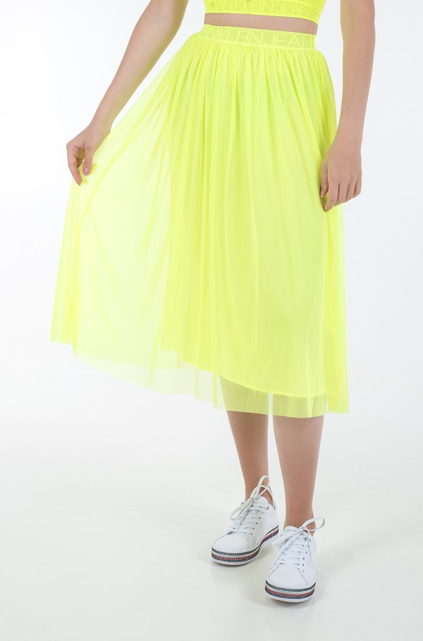 DOUBLE LAYER MESH SKIRT-hover