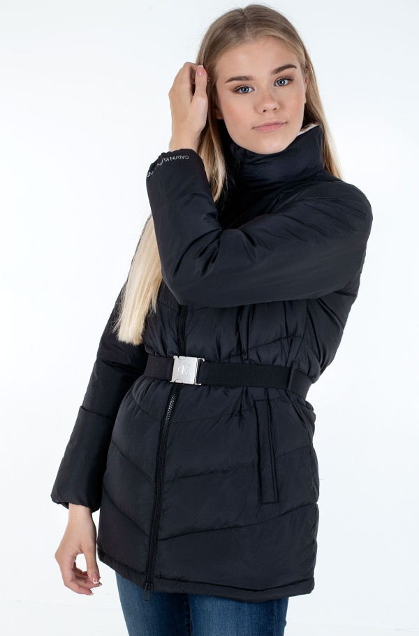 LW BELTED PUFFER JACKET-hover
