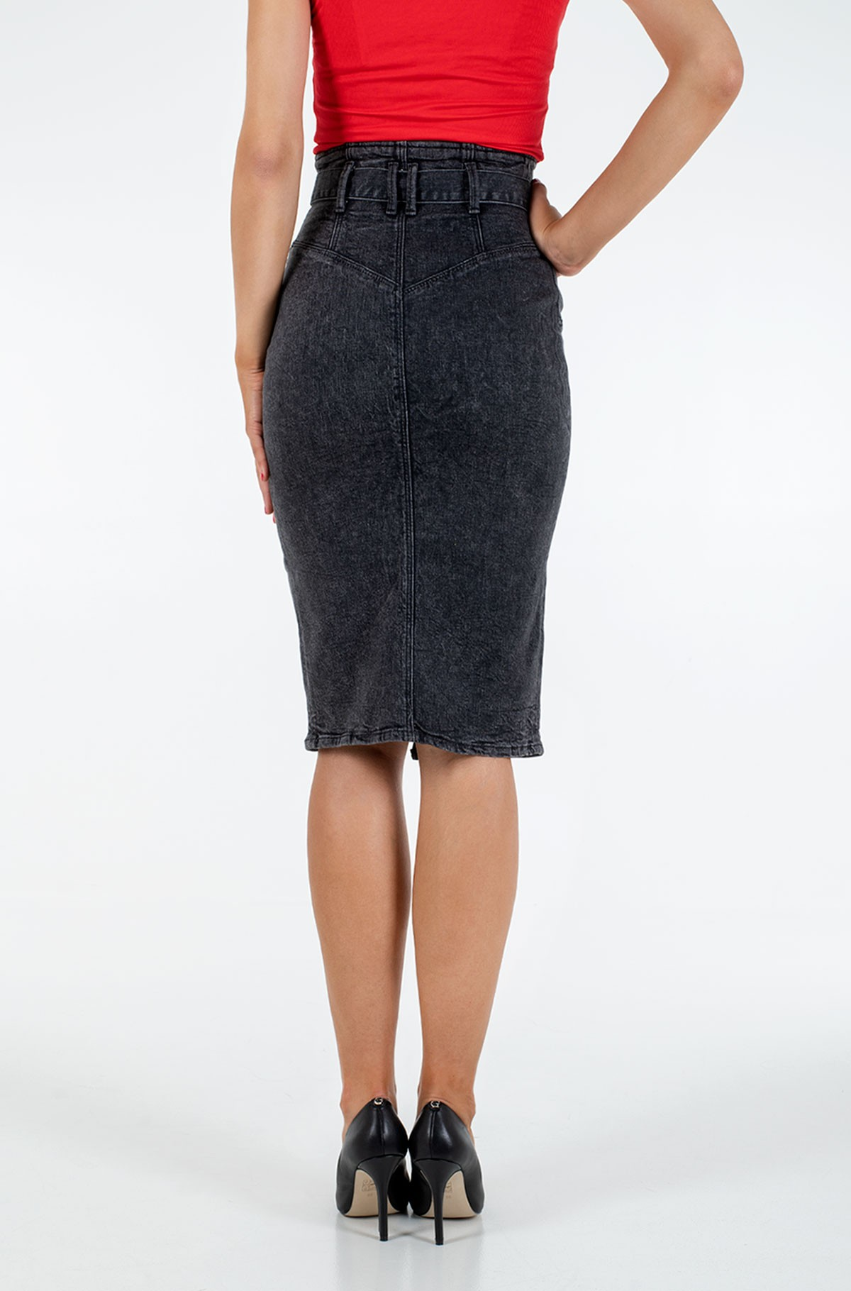 Denim skirt  W0YD47 D42K2-full-2