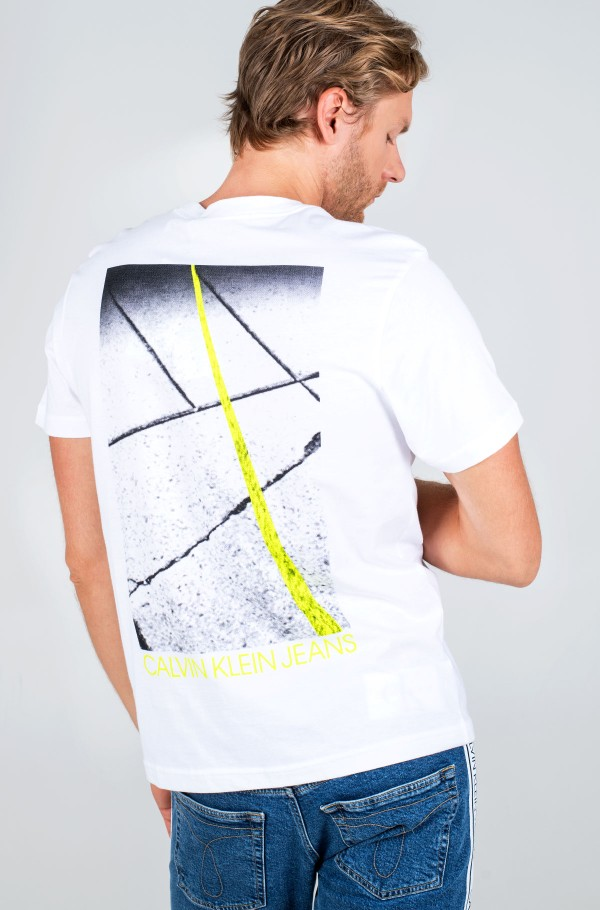 SKATER PHOTO NEON TEE-hover