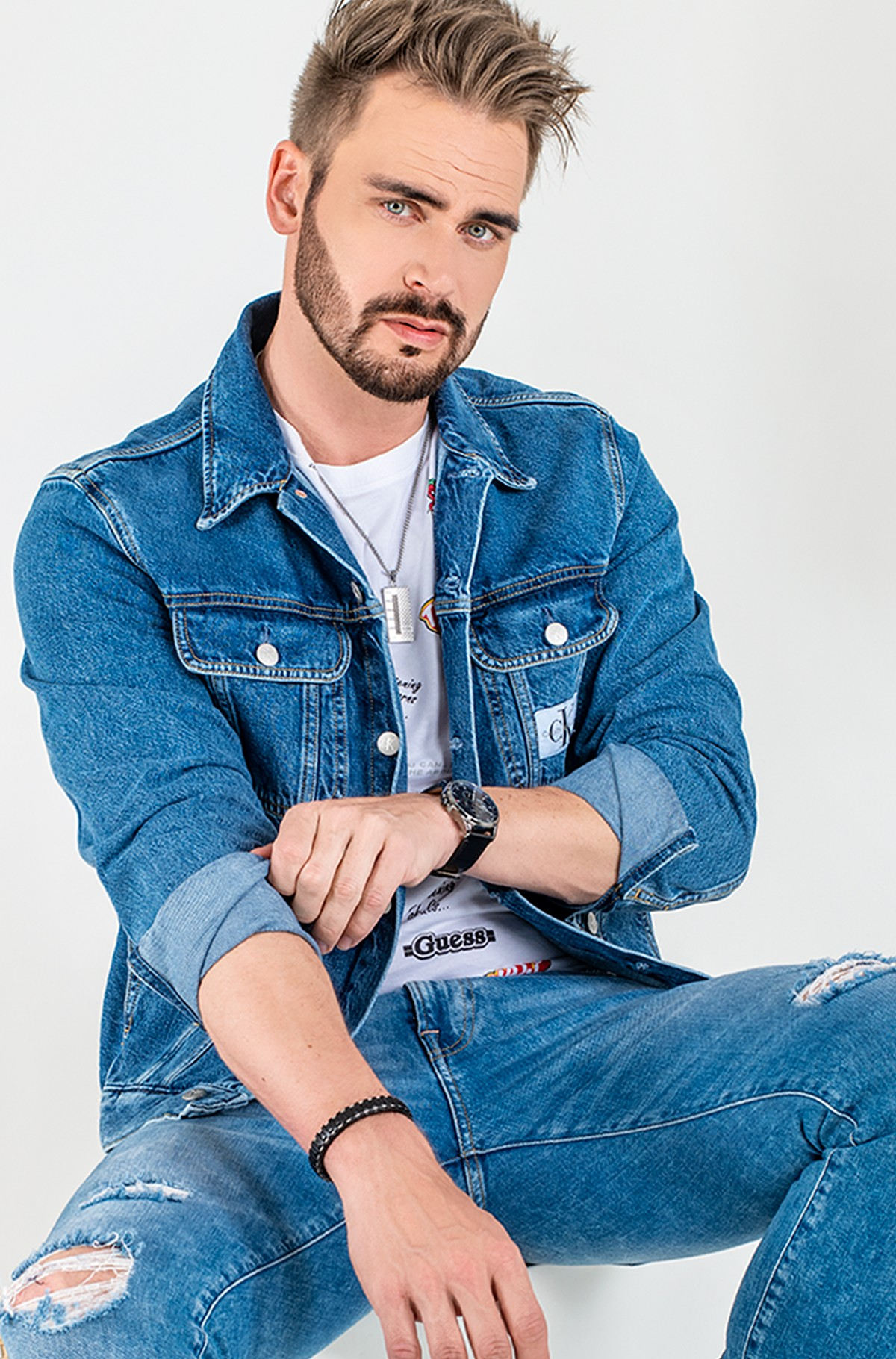 Džinsinis švarkas 90S DENIM JACKET-full-1