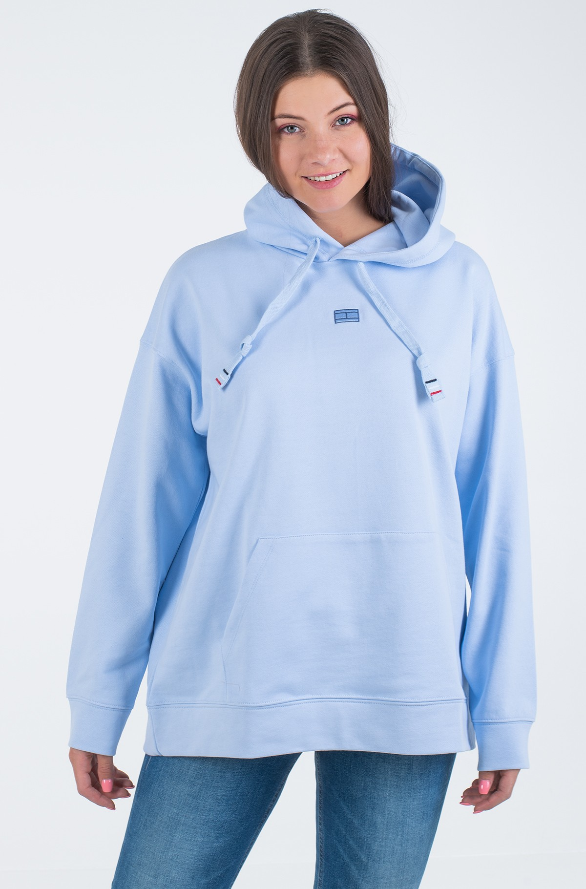 Dressipluus CINDY RELAXED HOODIE LS	-full-1