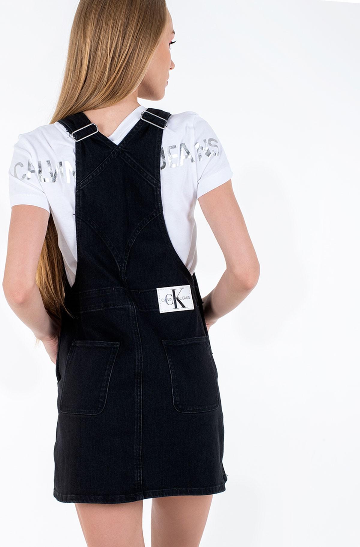 Denim dress OVERALL DRESS-full-2