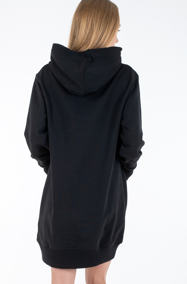 GRID LOGO HOODED DRESS-hover