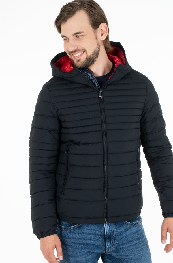 QUILTED HOODED JACKET-hover