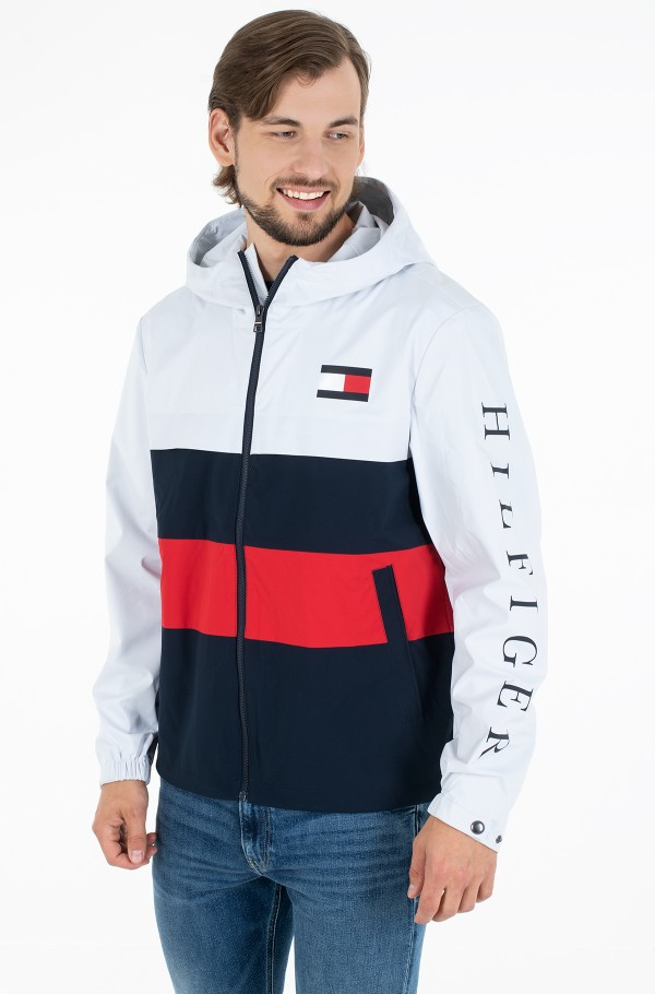 COLOURBLOCK HOODED JACKET
