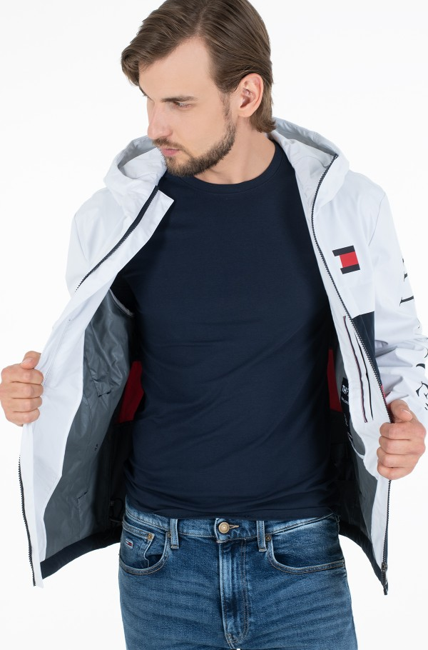 COLOURBLOCK HOODED JACKET-hover