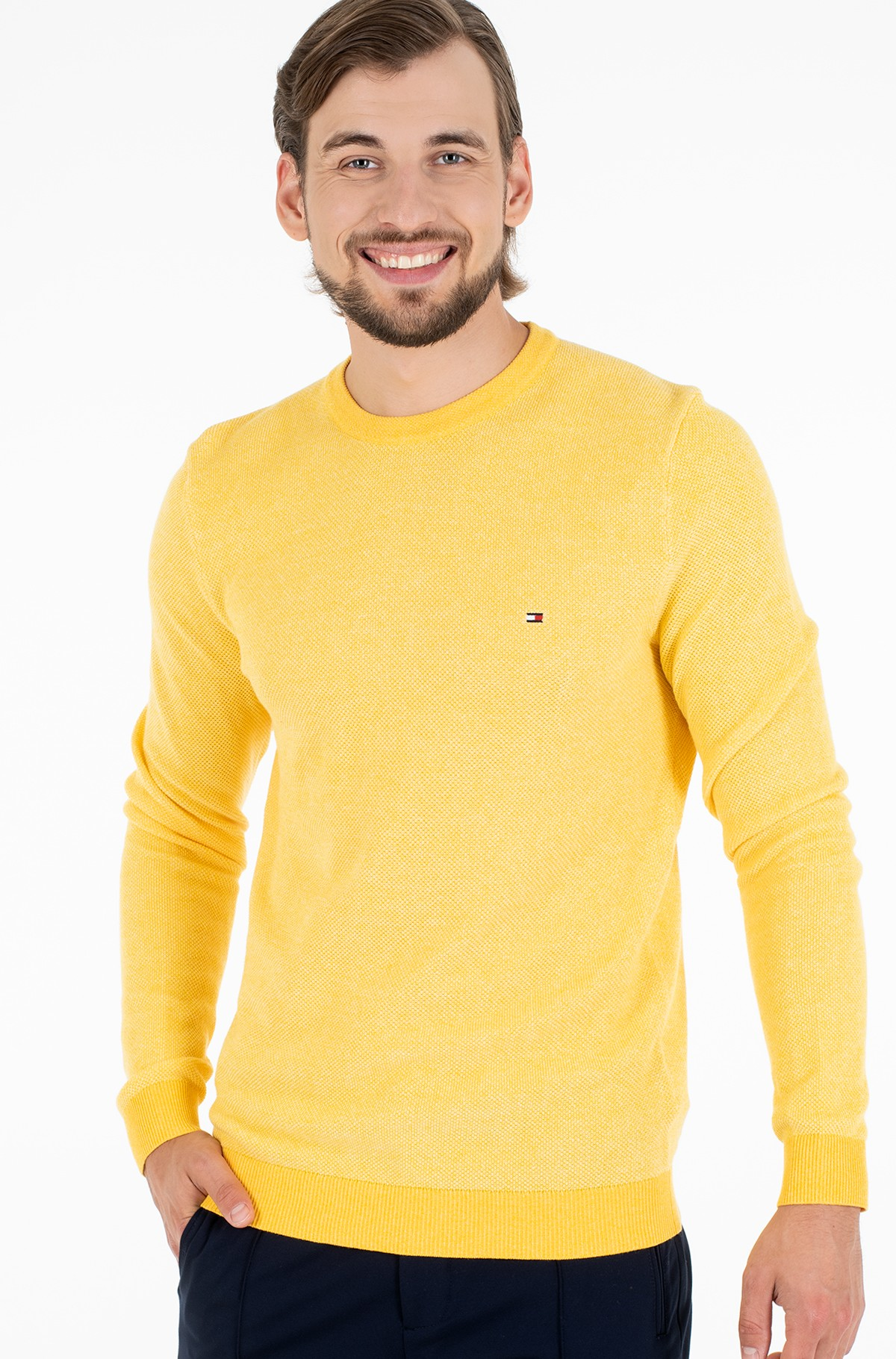 Sweater MOULINE STRUCTURE CREW NECK-full-1