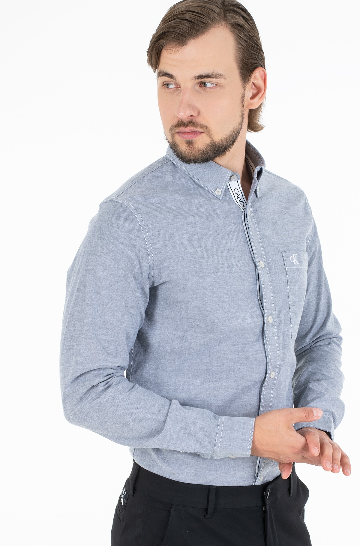 Marškiniai CHAMBRAY SLIM STRETCH-full-1