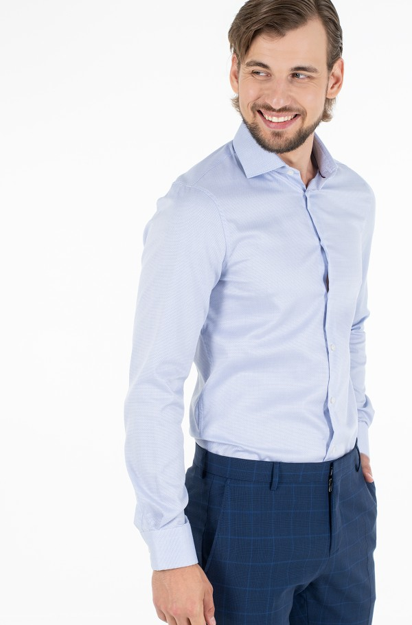 DOBBY FLEX COLLAR SLIM SHIRT