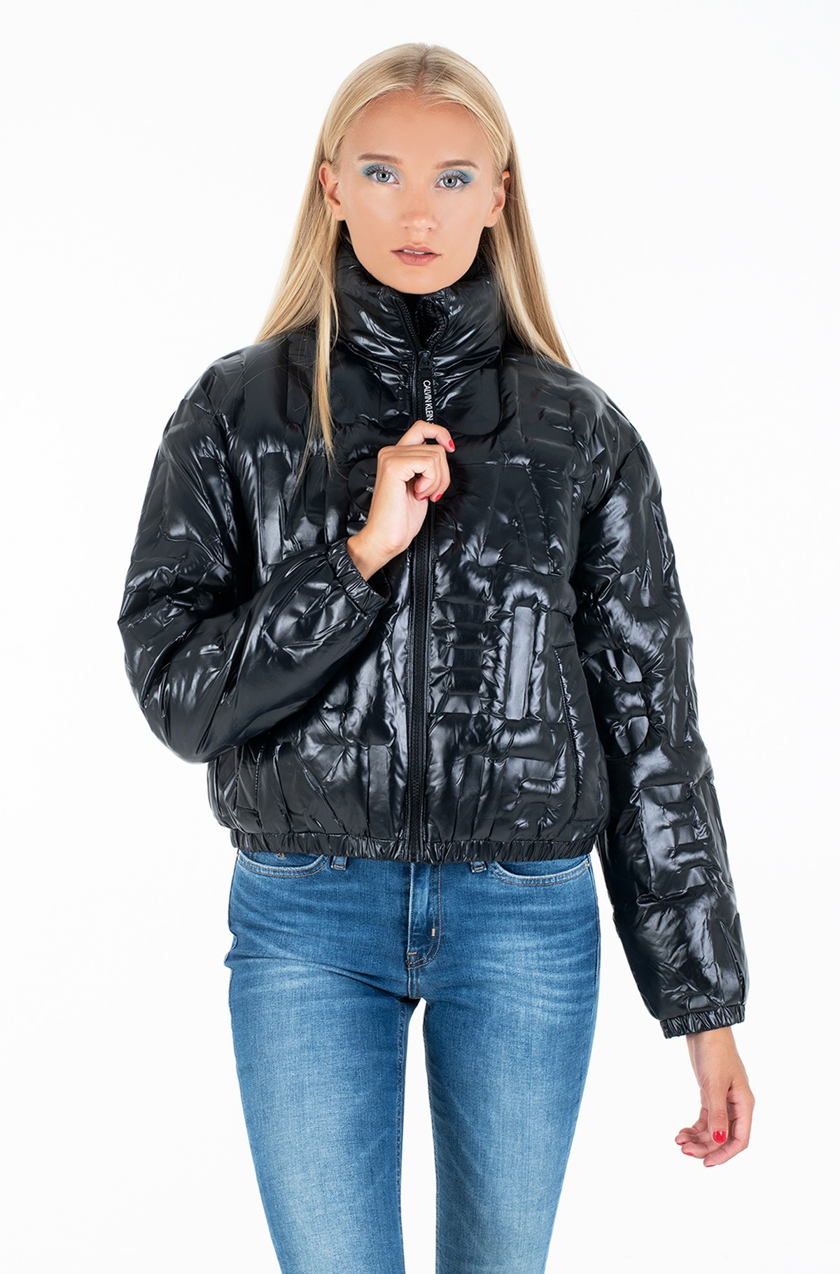 Jacket EMBOSSED LOGO PUFFER JACKET-full-1