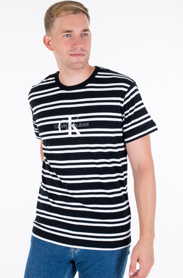 STRIPED CK CENTER LOGO TEE