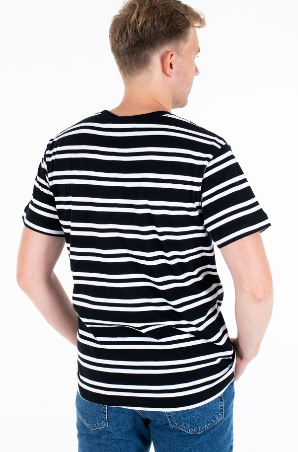 STRIPED CK CENTER LOGO TEE-hover