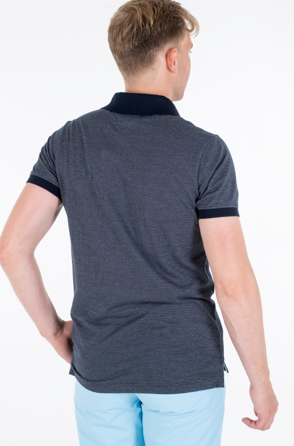 TWO TONE TEXTURED SLIM POLO-hover