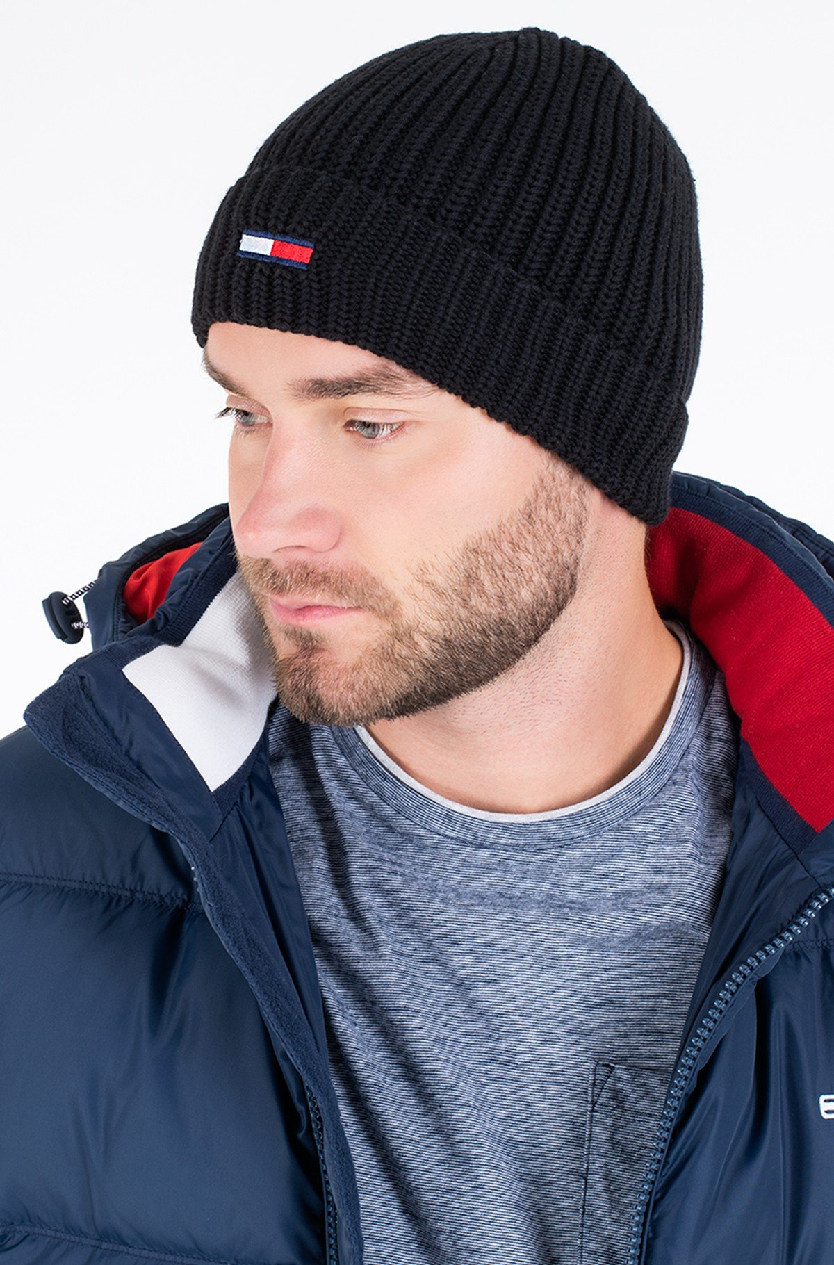 Müts TJM BASIC FLAG RIB BEANIE-full-1