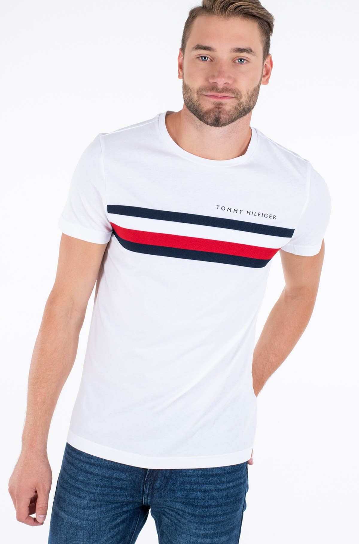 T-särk GLOBAL STRIPE TEE-full-1