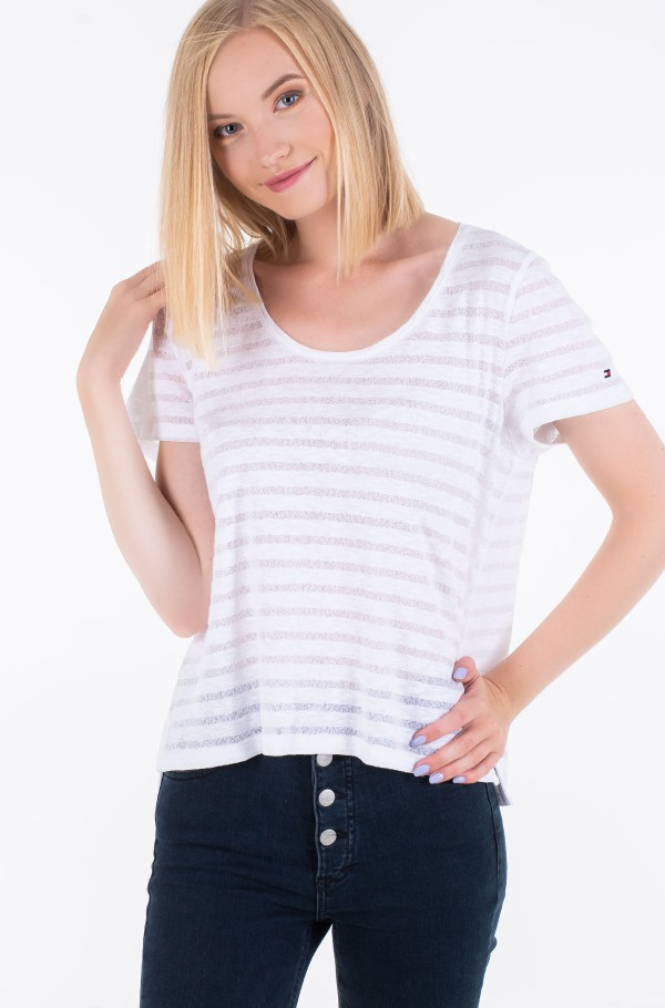 CELESTE RELAXED SCOOP-NK TOP SS