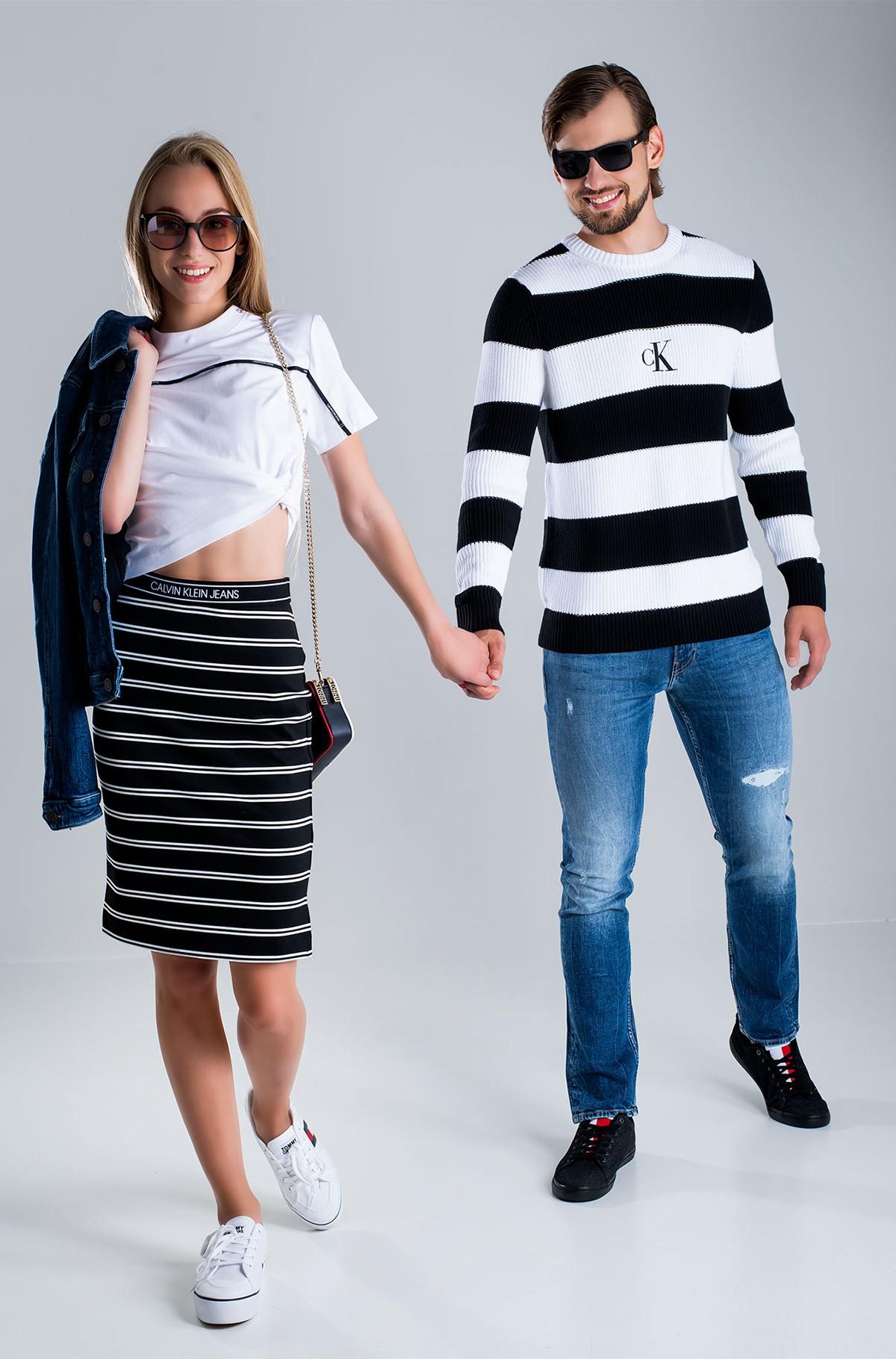 Sweater STRIPED MONOGRAM SWEATER-full-1