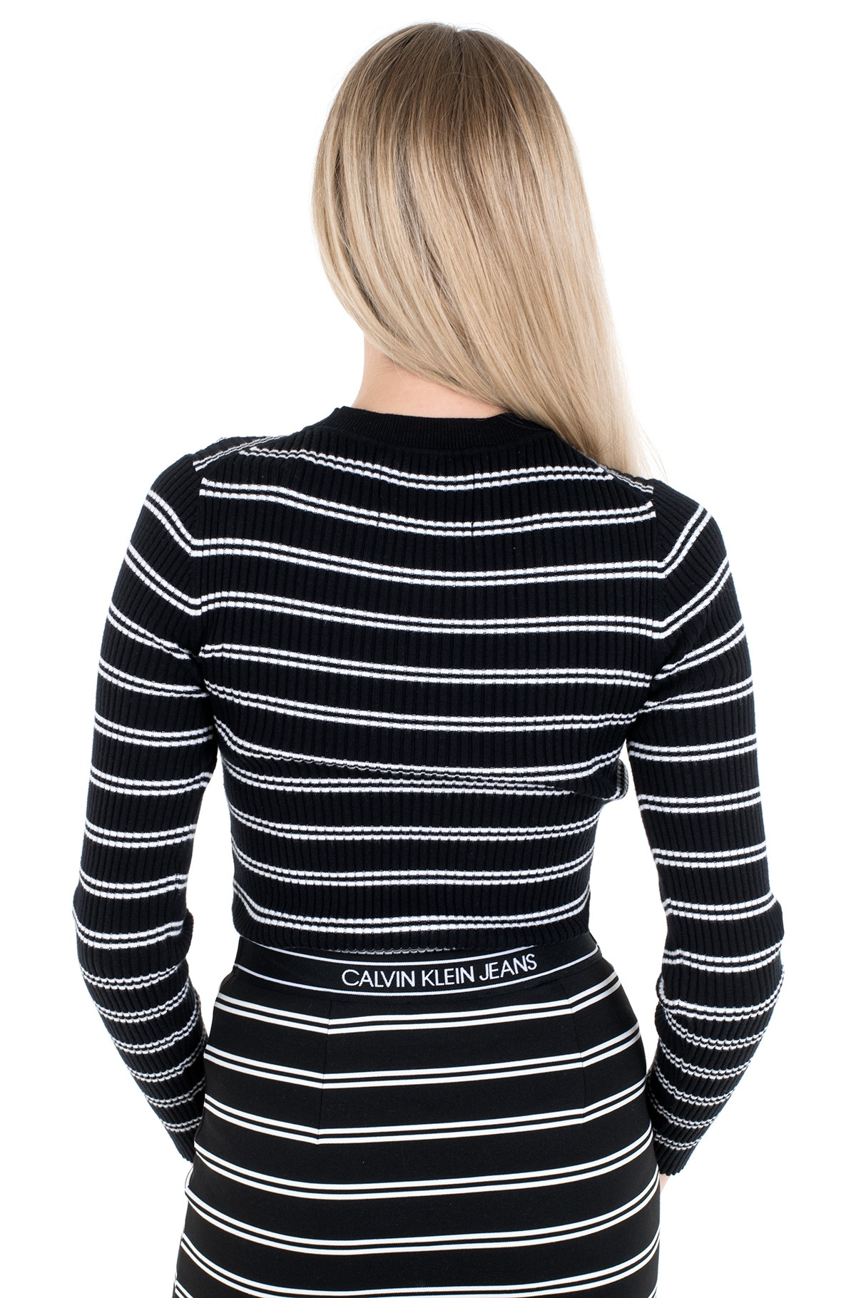 Kampsun STRIPE RIB SWEATER-full-2