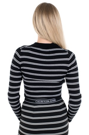 Kampsun STRIPE RIB SWEATER-2