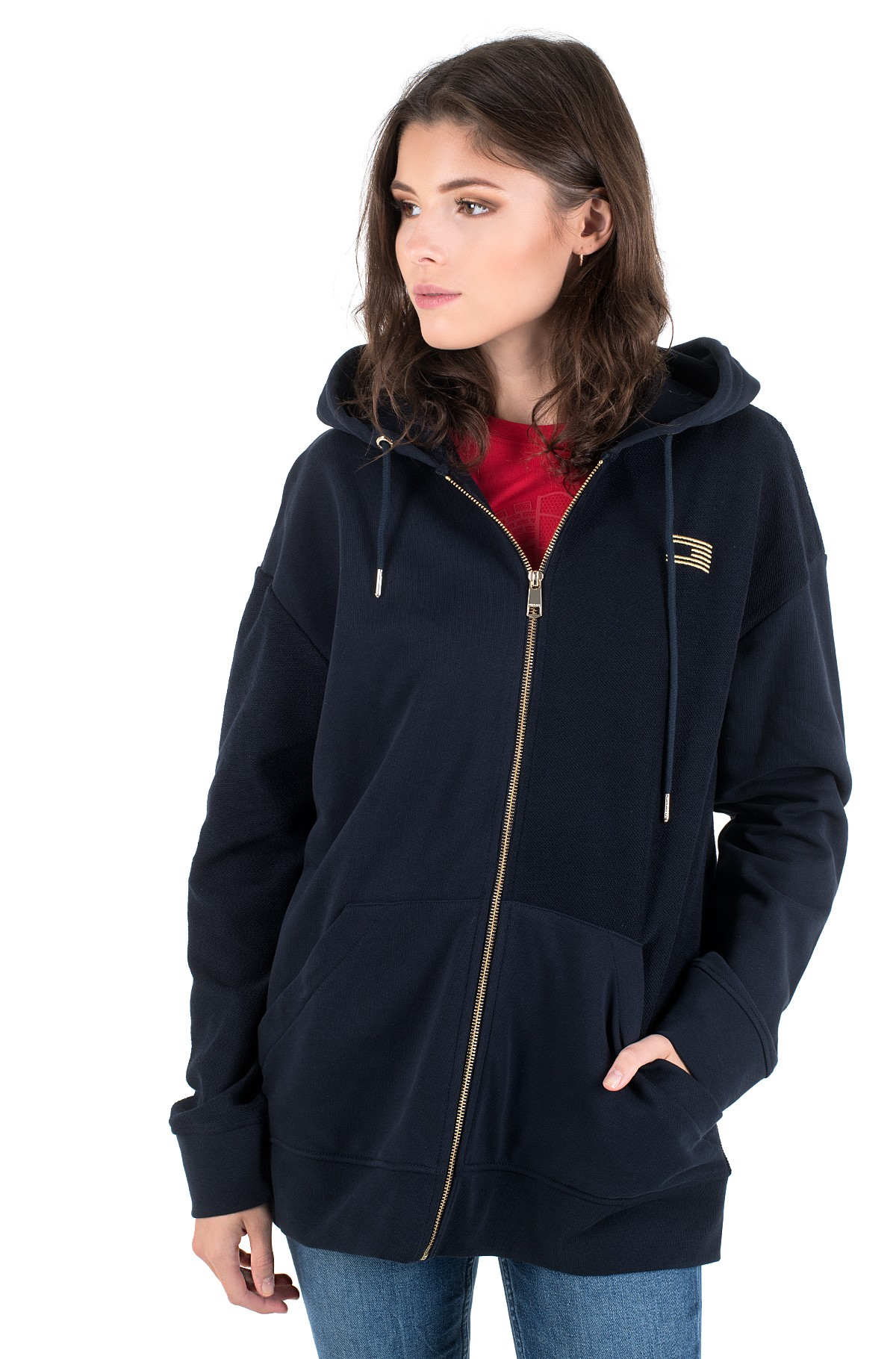 Dressipluus ICON RELAXED ZIP THROUGH HOODIE-full-1