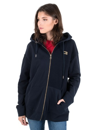 Dressipluus ICON RELAXED ZIP THROUGH HOODIE-1