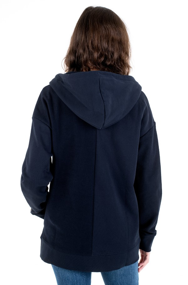 ICON RELAXED ZIP THROUGH HOODIE-hover